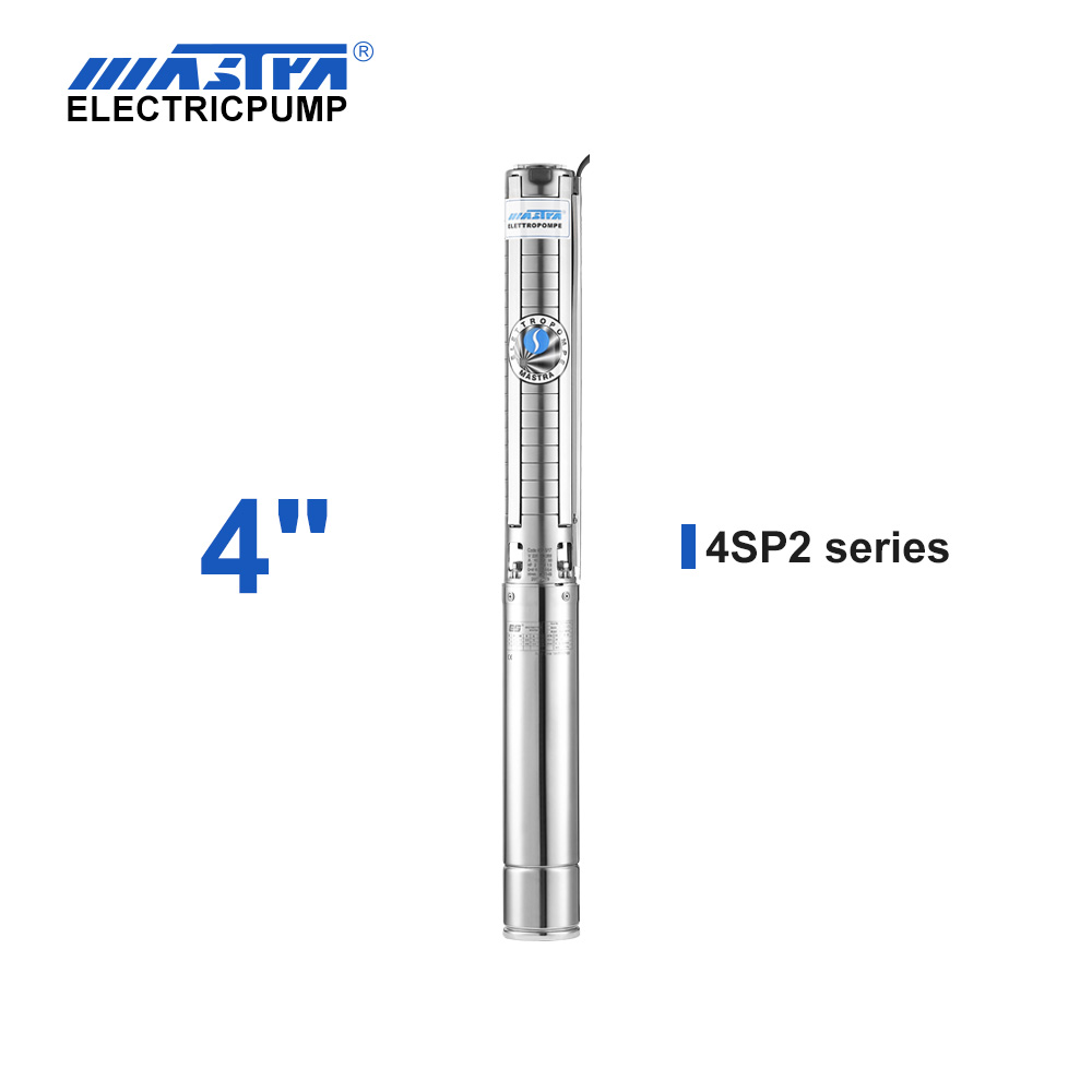 Mastra 4 inch stainless steel submersible pump - 4SP series 2 m³/h rated flow water drilling machine