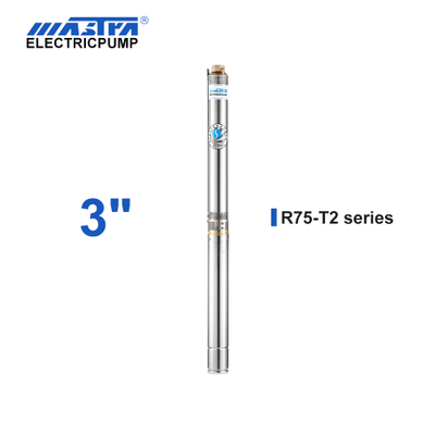 60Hz Mastra 3 inch Submersible Pump - R75-T2 series 2 m³/h rated flow submersible water pump